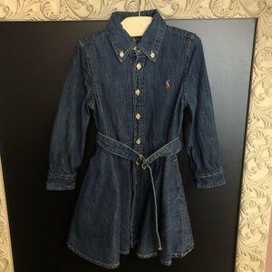 Ralph Lauren toddler girl denim shirt dress